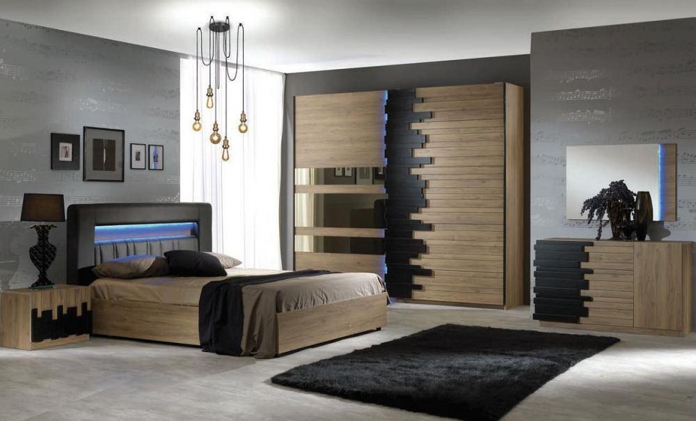mobilier lemn masiv dormitor Mozart